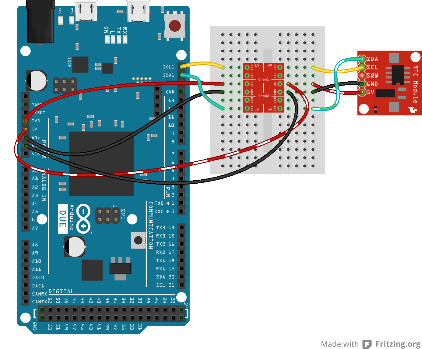 arduino 24c16 EEProm chip interfaced to an arduino through I2C