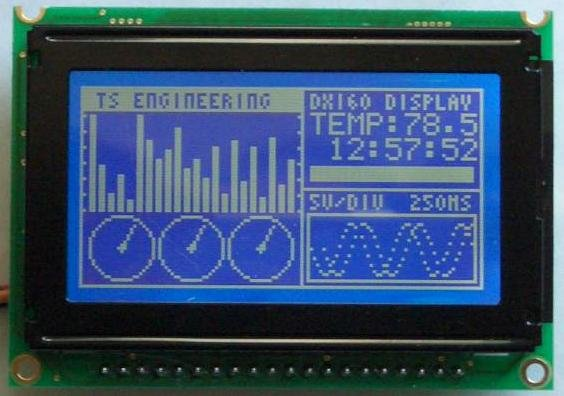 Graphic ST7565 Positive LCD 128x64 with RGB