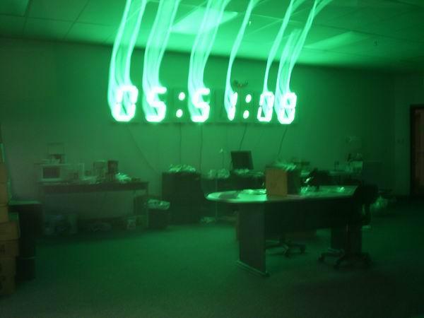 huge digital wall clock
